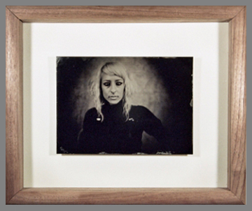 Example of a walnut wood shadow box frame